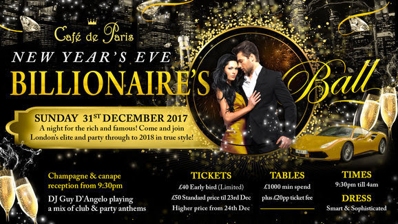 Cafe De Paris London New Years Eve
