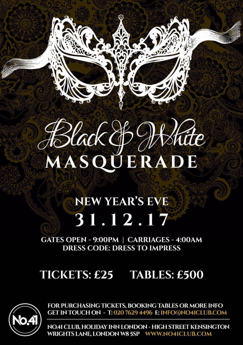 Club No 41 New Years Eve 2017