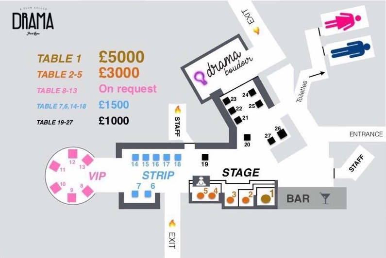 Drama VIP Tables Map
