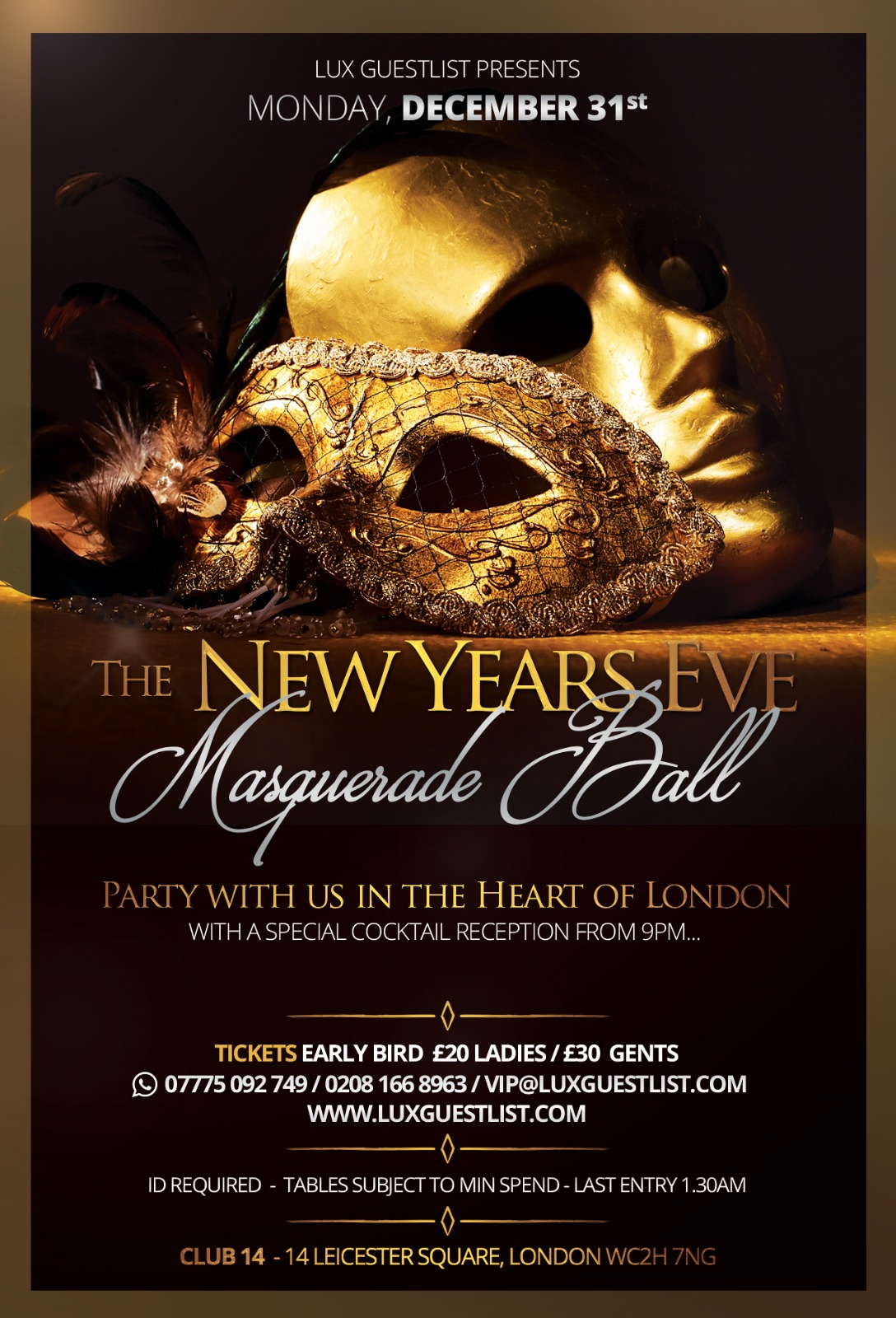 New Year S Eve 2018 Club 14 Leicester Square