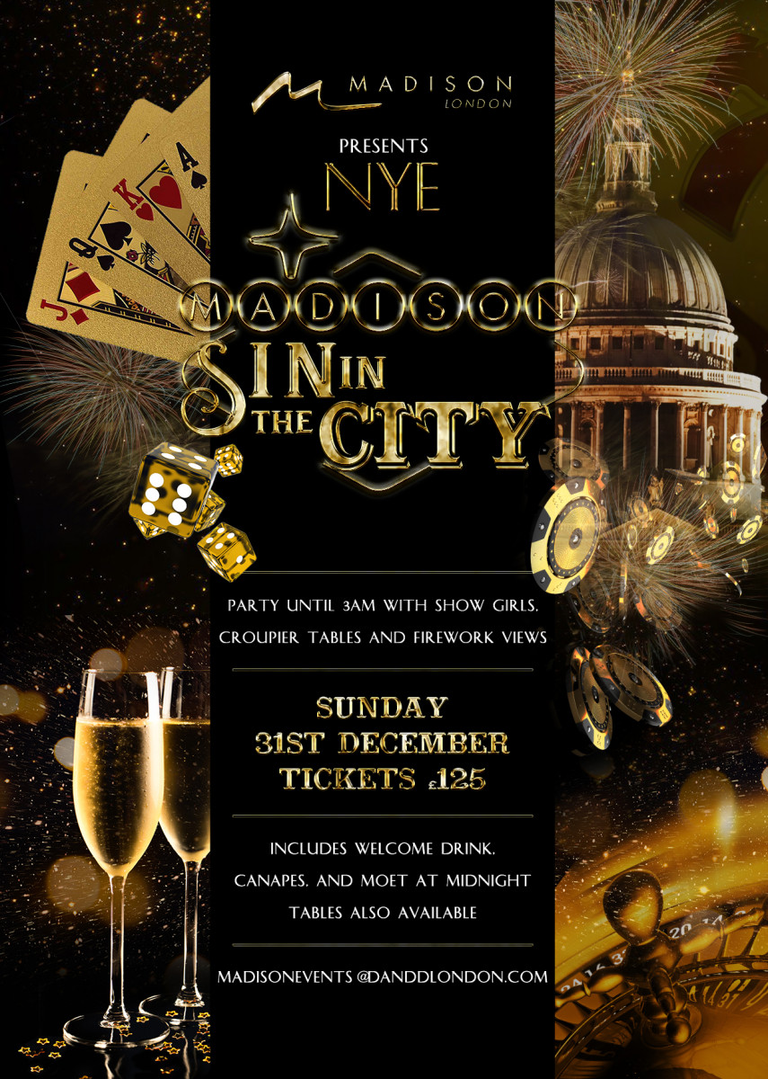 Madison New Years Eve London Party