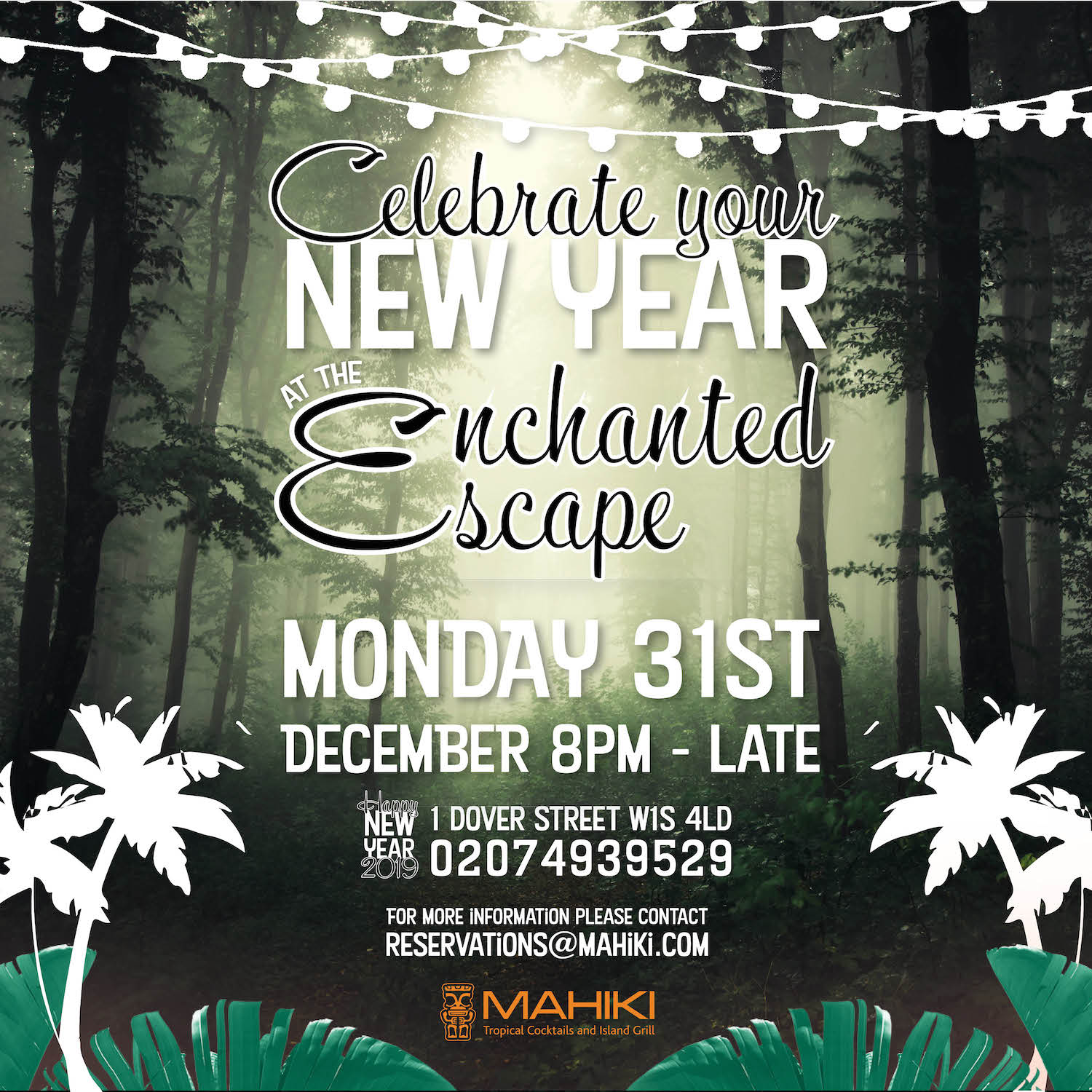 New Year's Eve Mahiki Mayfair