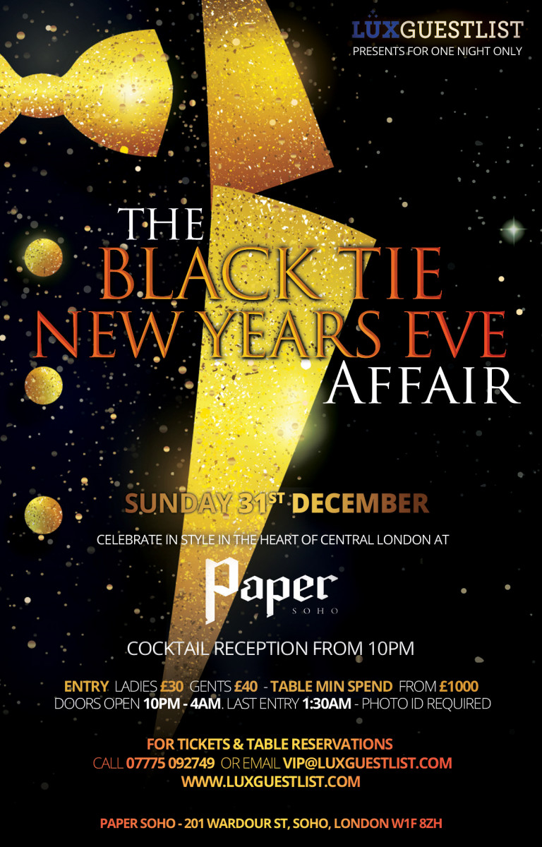 Paper New Years Eve Flyer