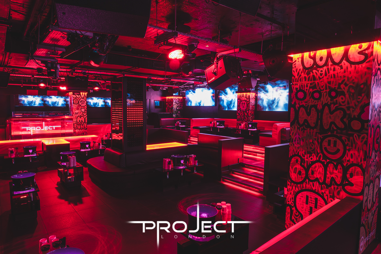 vip table booking at project london