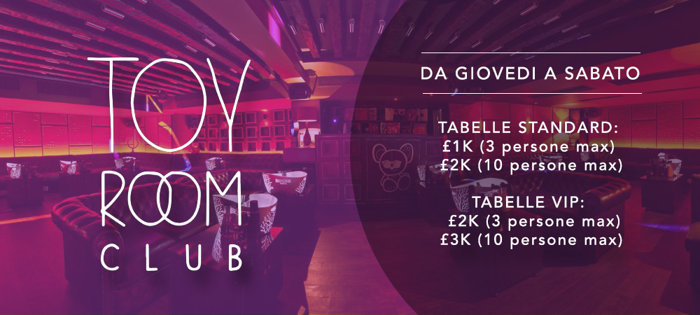 Toy Room London VIP Tables